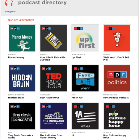 NPR Podcasts Directory